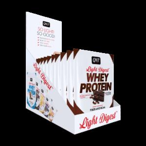 Light digest whey protein box belgian chocolate