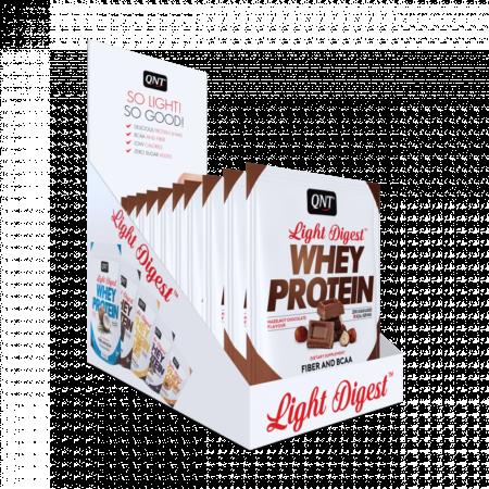 Light digest whey protein box hazelnut chocolate