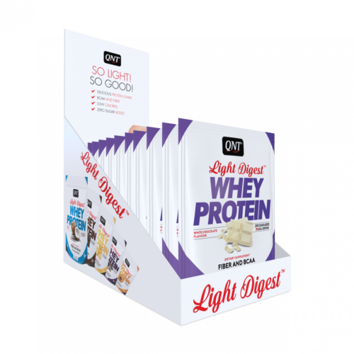 Light digest whey protein box white chocolate