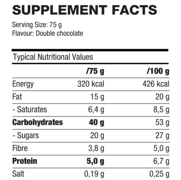 Enerjack Nutritional Values