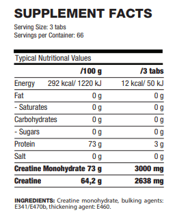 creatine tabs facts
