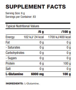 l glutamine 6000 facts
