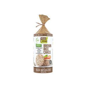 Rice UP! Brown rice cakes – Ρυζογκοφρέτες από καστανό ρύζι 120γρ – Μαύρο ρύζι χωρίς αλάτι