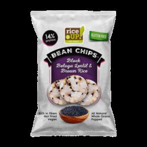 RICE UP Proteines Chips fekete Beluga lencsével g