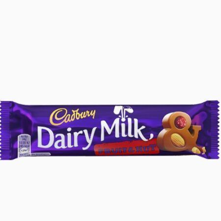 cadbury dairy milk fruit nut g