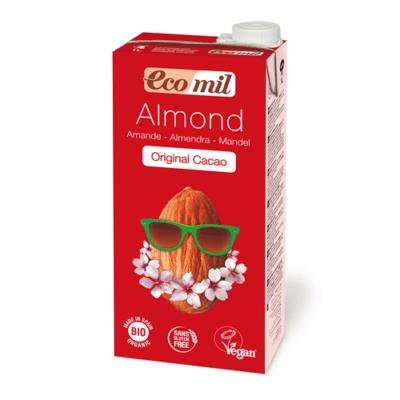 ecomil leche de almendra agave cacao bio  l