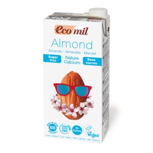 ecomil leche de almendra sin az car calcio bio  l