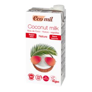 ecomil leche de coco sin az cares bio  l