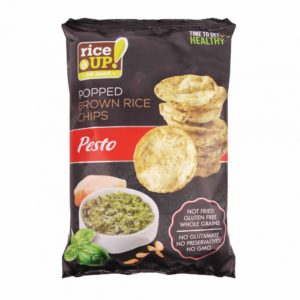 BMS rice up popped brown whole grain rice chips with pesto flavour g