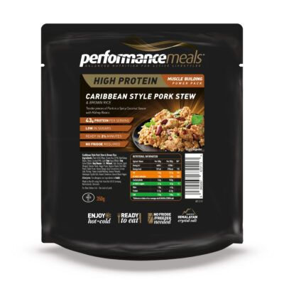 performance meals caribbean pork fop visual  v