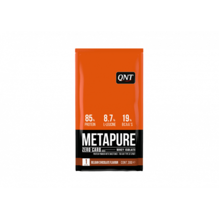 Metapure whey protein isolate box belgian chocolate