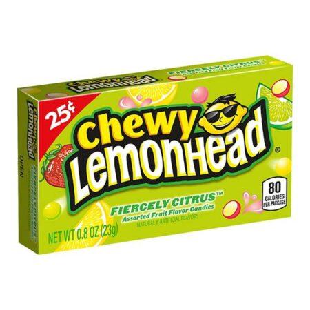 chewy lemonhead fiercely citrus assorted fruit flavoured candies  oz g