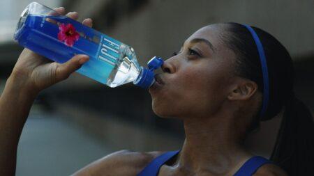 FIJI Water Sports Cap Ad Campaign   Allyson Felix
