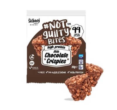 skinny food co not guilty milk chocolate crispies protein