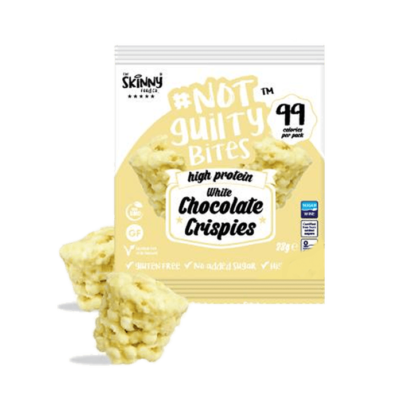 skinny food co not guilty white chocolate crispies