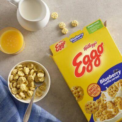 Eggo Blueberry Waffle Cereal