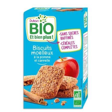 dukan biscuits moelleux bio a la pomme et cannelle