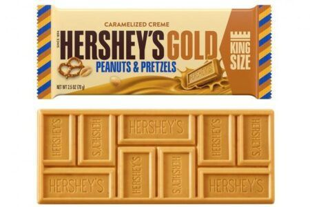 eng pl Hersheys Gold With Peanuts and Pretzels King Size