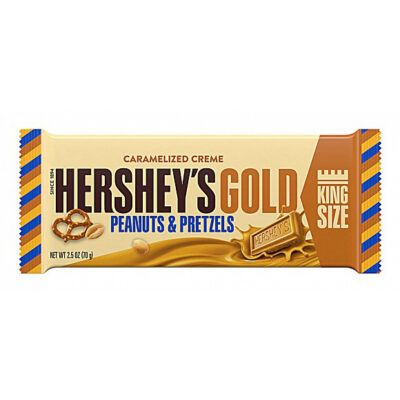 hersheys gold with peanuts and pretzels king size