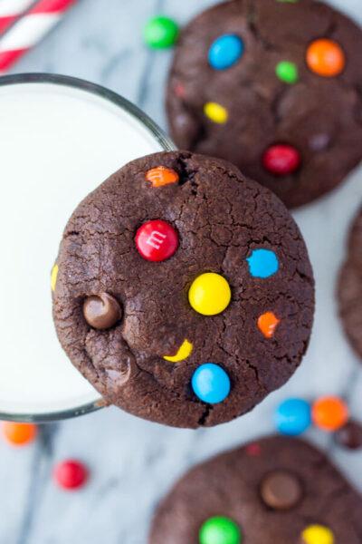 MM Double Chocolate Cookies
