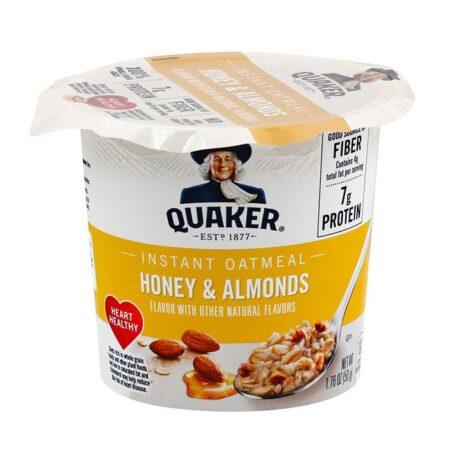 quaker instant oatmeal honey almonds 50g