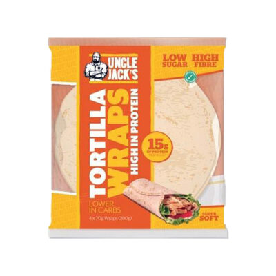 uncle jacks high protein wraps
