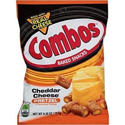 combos cheddar filled pretzels