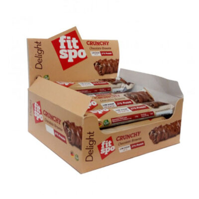 fitspo delight crunchy chocolate brownie display