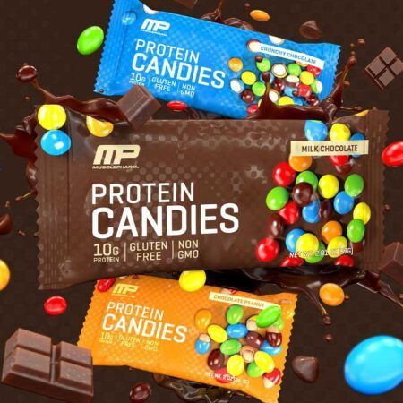 musclepharm protein candies crunchy and peanut butter
