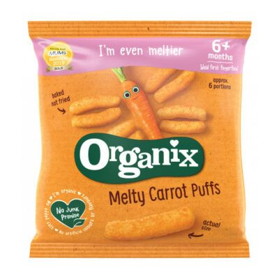 Organix melty carrot puffs  months