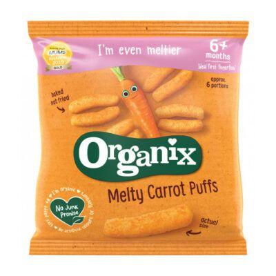 Organix melty carrot puffs  months