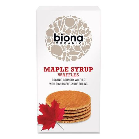 biona maple syrup waffles