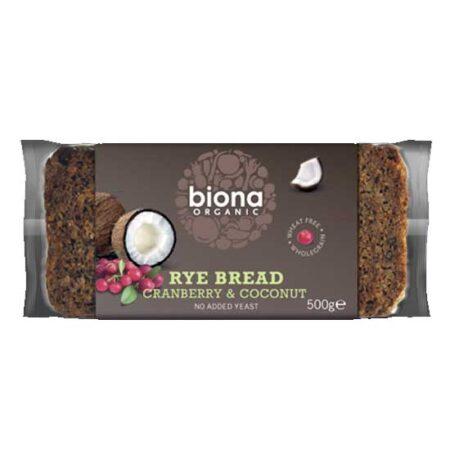 biona rye bread cranb coco biona