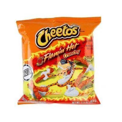 cheetos flaming hot crunchy g
