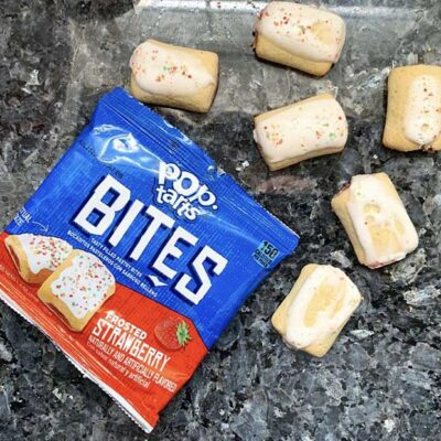 pop tarts bites frosted strawberry
