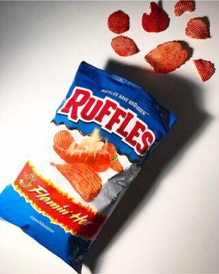 ruffles flamin ruffles flamin hot chips 2