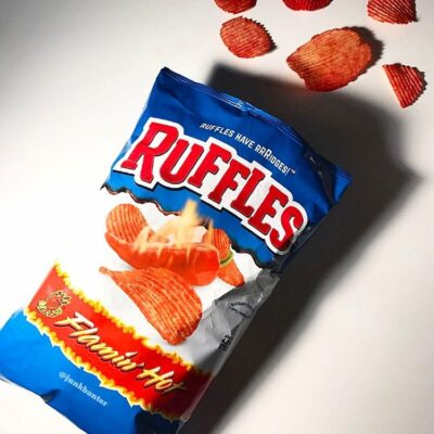 ruffles flamin ruffles flamin hot chips
