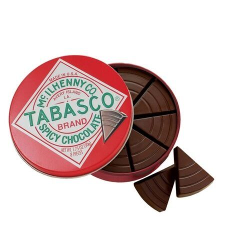 tabasco spicy dark chocolate wedges
