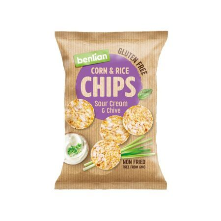 benlian rice chips sour cream and chive