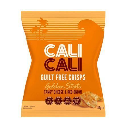 cali cali guilt free crisps golden state tangy cheese red onion g