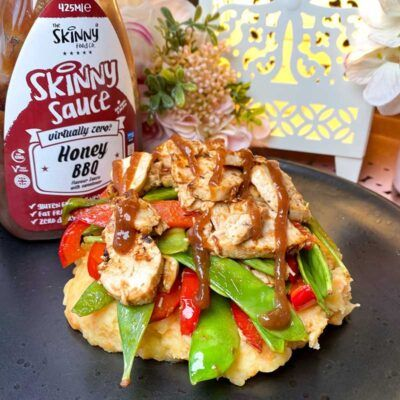 HONEY BBQ virtually zero sugar free sauce the skinny food co 425ml 2