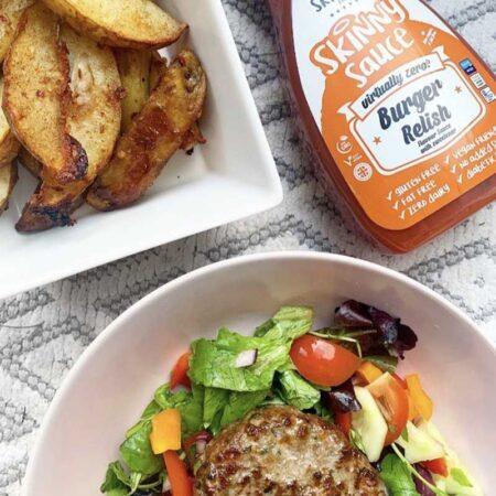 burger relish notguilty virtually zero sugar free sauce the skinny food co ml
