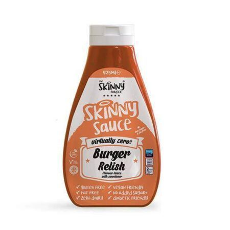 burger relish notguilty virtually zero sugar free sauce the skinny food co ml