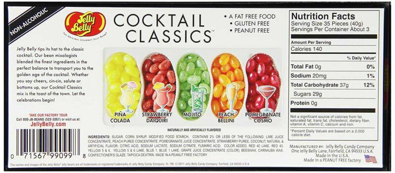 jelly belly coctail classics facts