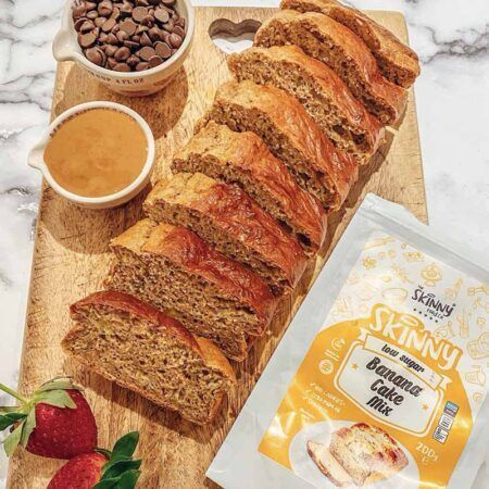 skinny banana bread cake mix