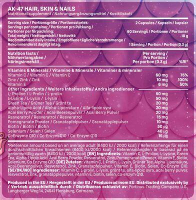ak47 hair skin nails facts