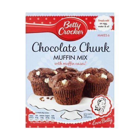 betty crocker chocolate chunk muffin mix g