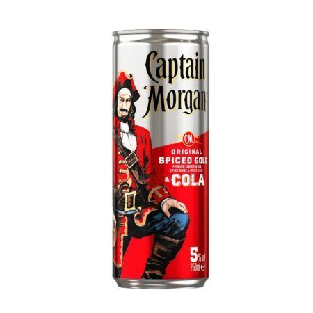 captain morgan original spiced gold cola ml