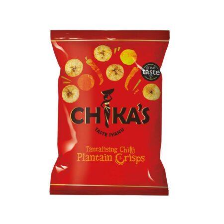 chikas chilli plantain crisps