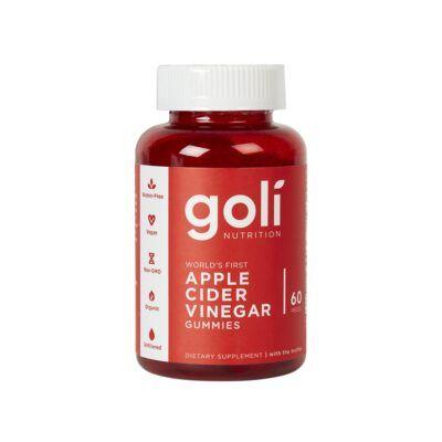 goli nutrition apple cider vinegar gummies pcs